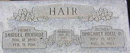 "HAIR, MARGARET ADELL ""DELLA"" - Wasatch County, Utah | MARGARET ADELL ""DELLA"" HAIR - Utah Gravestone Photos"