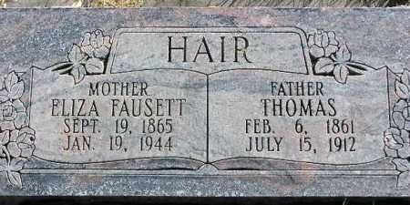 HAIR, THOMAS - Wasatch County, Utah | THOMAS HAIR - Utah Gravestone Photos