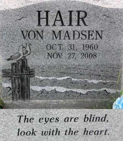 HAIR, VON MADSEN - Wasatch County, Utah | VON MADSEN HAIR - Utah Gravestone Photos