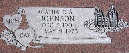 JOHNSON, AGATHA HANNAH - Wasatch County, Utah | AGATHA HANNAH JOHNSON - Utah Gravestone Photos