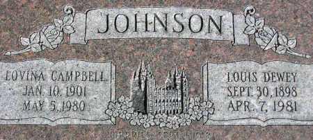 JOHNSON, LOUIS DEWEY - Wasatch County, Utah | LOUIS DEWEY JOHNSON - Utah Gravestone Photos
