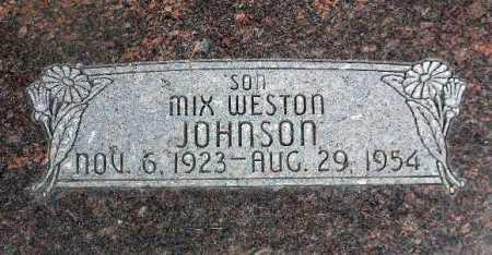 JOHNSON, MIX WESTON - Wasatch County, Utah | MIX WESTON JOHNSON - Utah Gravestone Photos