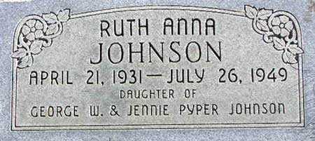JOHNSON, RUTH ANNA - Wasatch County, Utah | RUTH ANNA JOHNSON - Utah Gravestone Photos