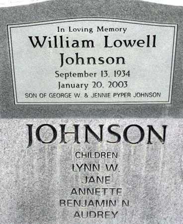 JOHNSON, WILLIAM LOWELL - Wasatch County, Utah | WILLIAM LOWELL JOHNSON - Utah Gravestone Photos