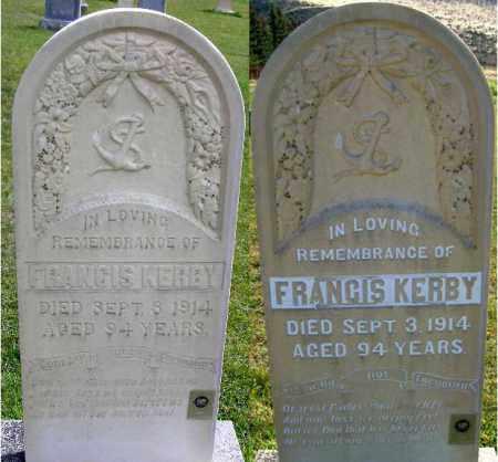 KERBY, FRANCIS - Wasatch County, Utah   FRANCIS KERBY - Utah Gravestone Photos