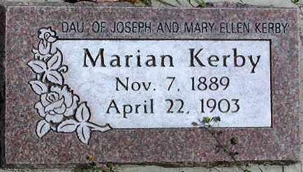 KERBY, MARIAN - Wasatch County, Utah | MARIAN KERBY - Utah Gravestone Photos