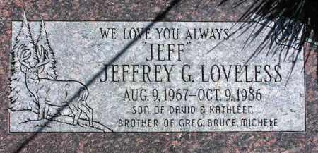 LOVELESS, JEFFREY G. - Wasatch County, Utah | JEFFREY G. LOVELESS - Utah Gravestone Photos
