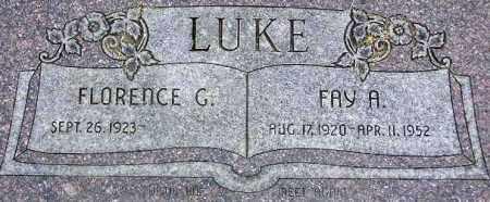 LUKE, FLORENCE EMMA - Wasatch County, Utah | FLORENCE EMMA LUKE - Utah Gravestone Photos