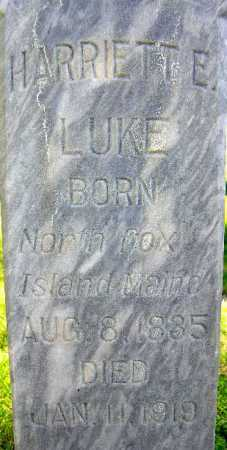 LUKE, HARRIETT ELLEN - Wasatch County, Utah | HARRIETT ELLEN LUKE - Utah Gravestone Photos