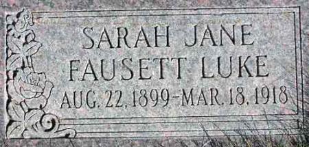 FAUSETT LUKE, SARAH JANE - Wasatch County, Utah | SARAH JANE FAUSETT LUKE - Utah Gravestone Photos
