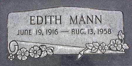 MANN, EDITH - Wasatch County, Utah   EDITH MANN - Utah Gravestone Photos