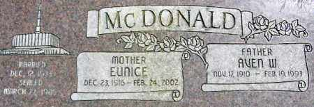 MCDONALD, EUNICE - Wasatch County, Utah | EUNICE MCDONALD - Utah Gravestone Photos