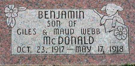 MCDONALD, BENJAMIN - Wasatch County, Utah   BENJAMIN MCDONALD - Utah Gravestone Photos