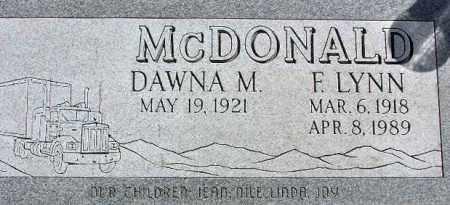 MCDONALD, DAWNA MAY - Wasatch County, Utah | DAWNA MAY MCDONALD - Utah Gravestone Photos