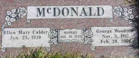 CALDER MCDONALD, ELLEN MARY - Wasatch County, Utah   ELLEN MARY CALDER MCDONALD - Utah Gravestone Photos