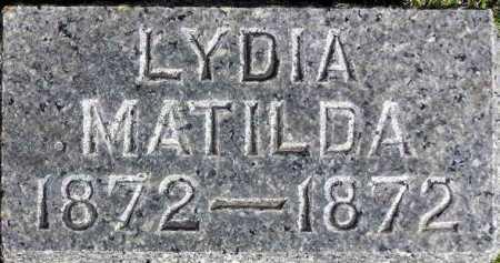 MCDONALD, LYDIA MATILDA - Wasatch County, Utah | LYDIA MATILDA MCDONALD - Utah Gravestone Photos