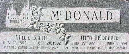 MCDONALD, MILLIE - Wasatch County, Utah   MILLIE MCDONALD - Utah Gravestone Photos