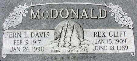 MCDONALD, FERN LEONA - Wasatch County, Utah | FERN LEONA MCDONALD - Utah Gravestone Photos
