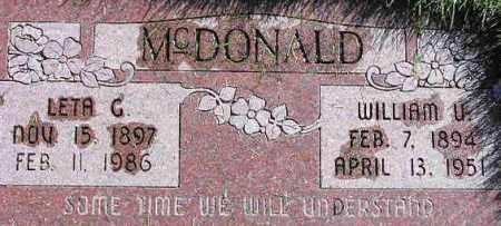 MCDONALD, WILLIAM URIAH - Wasatch County, Utah | WILLIAM URIAH MCDONALD - Utah Gravestone Photos