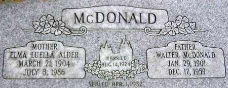 MCDONALD, WALTER - Wasatch County, Utah | WALTER MCDONALD - Utah Gravestone Photos