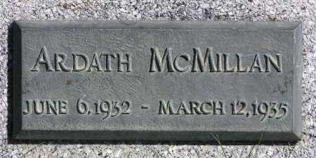 MCMILLAN, ARDATH - Wasatch County, Utah   ARDATH MCMILLAN - Utah Gravestone Photos