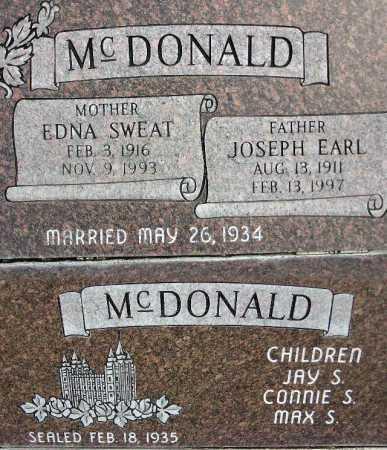 MCDONALD, JOSEPH EARL - Wasatch County, Utah | JOSEPH EARL MCDONALD - Utah Gravestone Photos