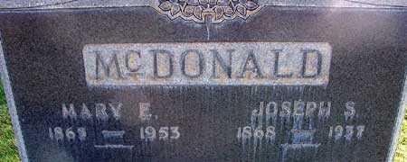 MCDONALD, MARY ELIZABETH - Wasatch County, Utah | MARY ELIZABETH MCDONALD - Utah Gravestone Photos