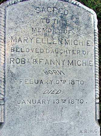 MICHIE, MARY ELLEN - Wasatch County, Utah | MARY ELLEN MICHIE - Utah Gravestone Photos