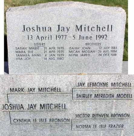 MITCHELL, JOSHUA JAY - Wasatch County, Utah | JOSHUA JAY MITCHELL - Utah Gravestone Photos