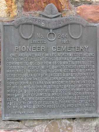 ABEGGLEN, ELIZABETH - Wasatch County, Utah | ELIZABETH ABEGGLEN - Utah Gravestone Photos