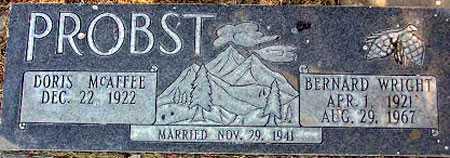 PROBST, BERNARD WRIGHT - Wasatch County, Utah | BERNARD WRIGHT PROBST - Utah Gravestone Photos