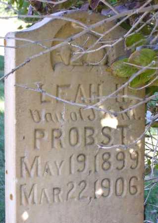 PROBST, LEAH H. - Wasatch County, Utah   LEAH H. PROBST - Utah Gravestone Photos