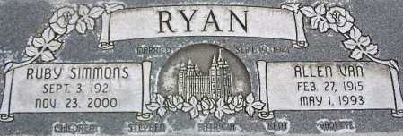 RYAN, RUBY - Wasatch County, Utah | RUBY RYAN - Utah Gravestone Photos