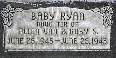 RYAN, BABY DAUGHTER - Wasatch County, Utah | BABY DAUGHTER RYAN - Utah Gravestone Photos