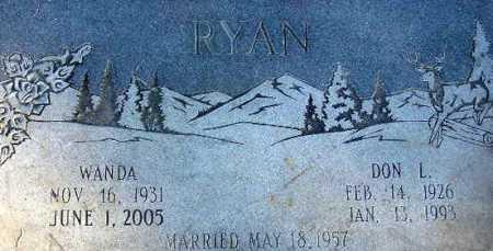 RYAN, DON LEWIS - Wasatch County, Utah | DON LEWIS RYAN - Utah Gravestone Photos