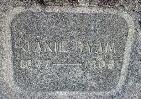 RYAN, JANIE - Wasatch County, Utah | JANIE RYAN - Utah Gravestone Photos