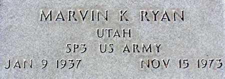 RYAN, MARVIN K. - Wasatch County, Utah | MARVIN K. RYAN - Utah Gravestone Photos