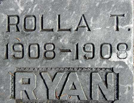 RYAN, ROLLA T. - Wasatch County, Utah | ROLLA T. RYAN - Utah Gravestone Photos