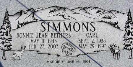 SIMMONS, BONNIE JEAN - Wasatch County, Utah | BONNIE JEAN SIMMONS - Utah Gravestone Photos