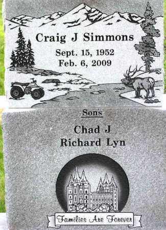 SIMMONS, CRAIG J - Wasatch County, Utah | CRAIG J SIMMONS - Utah Gravestone Photos