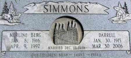 SIMMONS, MERLINE MARTHA - Wasatch County, Utah | MERLINE MARTHA SIMMONS - Utah Gravestone Photos