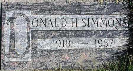 SIMMONS, DONALD HYRUM - Wasatch County, Utah | DONALD HYRUM SIMMONS - Utah Gravestone Photos