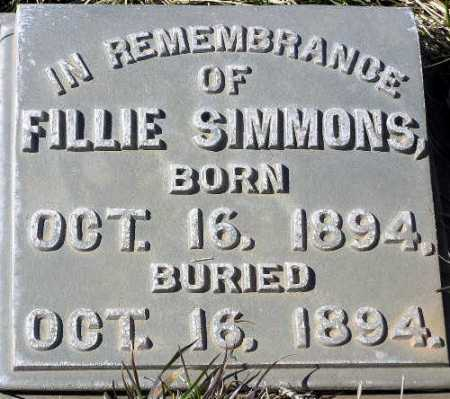 SIMMONS, FILLIE - Wasatch County, Utah | FILLIE SIMMONS - Utah Gravestone Photos