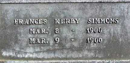 SIMMONS, FRANCES KERBY - Wasatch County, Utah | FRANCES KERBY SIMMONS - Utah Gravestone Photos