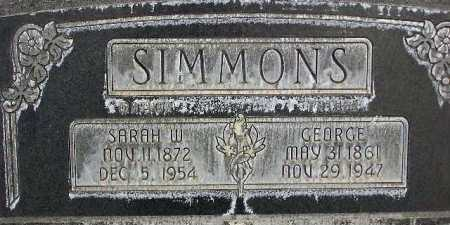 SIMMONS, GEORGE WILLIAM - Wasatch County, Utah | GEORGE WILLIAM SIMMONS - Utah Gravestone Photos