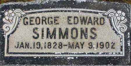 SIMMONS, GEORGE EDWARD - Wasatch County, Utah | GEORGE EDWARD SIMMONS - Utah Gravestone Photos