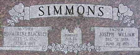 SIMMONS, EDNA IRENE - Wasatch County, Utah | EDNA IRENE SIMMONS - Utah Gravestone Photos