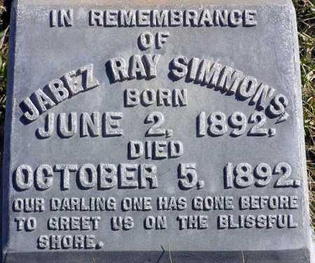 SIMMONS, JABEZ RAY - Wasatch County, Utah | JABEZ RAY SIMMONS - Utah Gravestone Photos