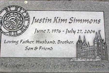 SIMMONS, JUSTIN KIM - Wasatch County, Utah | JUSTIN KIM SIMMONS - Utah Gravestone Photos