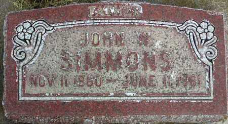 SIMMONS, JOHN WILLIAM - Wasatch County, Utah | JOHN WILLIAM SIMMONS - Utah Gravestone Photos